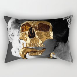 Golden Skull Rectangular Pillow