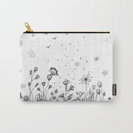 Floral Garden Doodle Art Carry-All Pouch