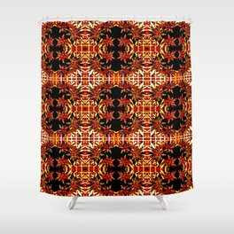 Traditional Christmas Star Pattern Shower Curtain