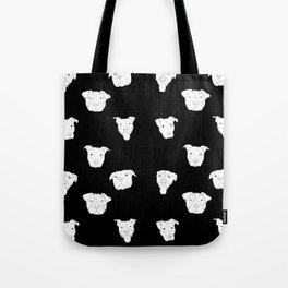 Black pit bull love Tote Bag