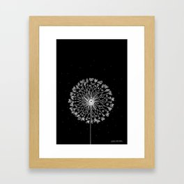 White Dandelion Framed Art Print