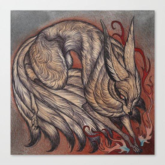 Nine Tailed Fox Canvas Print