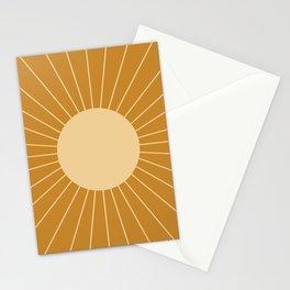 Minimal Sunrays - Golden Stationery Cards