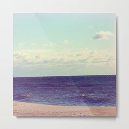 Peaceful Serene Beach Metal Print