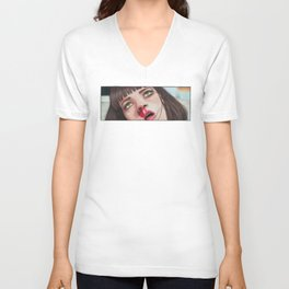Mia Wallace Unisex V-Neck