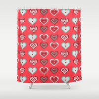valentine Shower Curtains featuring Valentine by Heaven7