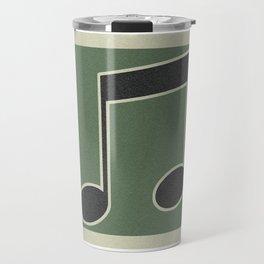 eigths note green Travel Mug