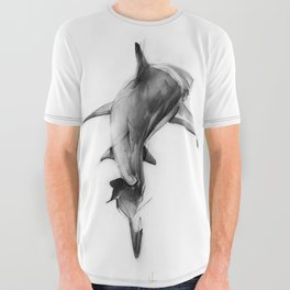 Shark II All Over Graphic Tee