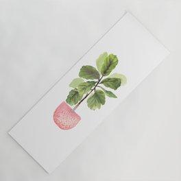 Fiddle-Leaf Fig (Watercolor) Yoga Mat