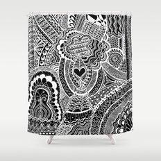 Love Doodle Shower Curtain