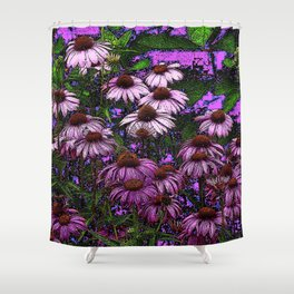 MODERN ART GARDEN ECHINACEA PURPLE BEAUTY Shower Curtain