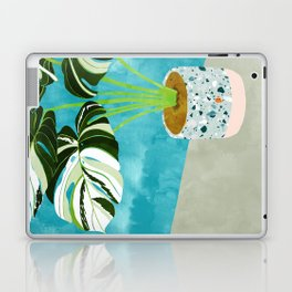 Variegated Monstera #tropical #painting #nature Laptop & iPad Skin