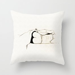 Bedtime - Black and White series Throw Pillow