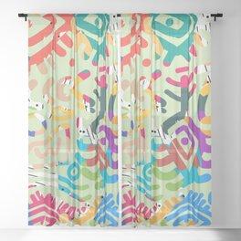 Symbol of colors Sheer Curtain
