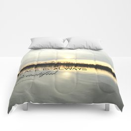 Peace is always beautiful, quote by Walt Whitman Comforters