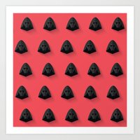 Kylo Ren Flat Design Mosaic Art Print