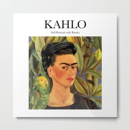 Kahlo - Self-Portrait with Bonito Metal Print