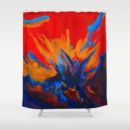 Explosive Dialogue Shower Curtain