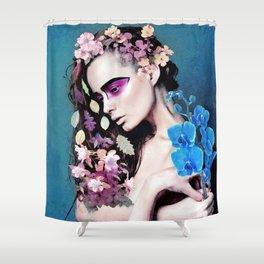 Depressed women Shower Curtain
