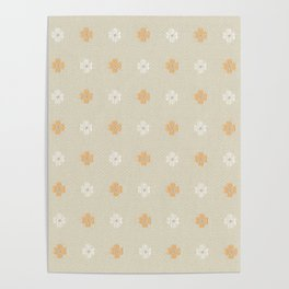 Vintage wallpaper with a picture of flowers Poster
