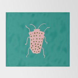 arthropod teal Throw Blanket
