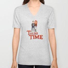 Tardis Time Unisex V-Neck