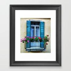 Window in Venice Framed Art Print