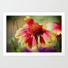 Post Card Love Art Print