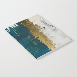 Rain [3]: a minimal, abstract mixed-media piece in blues, white, and gold by Alyssa Hamilton Art Notebook