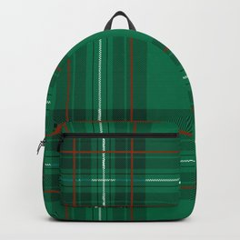 Holiday Green and Red Scottish Plaid Print Backpack
