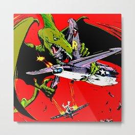 Kaiju Attack Metal Print