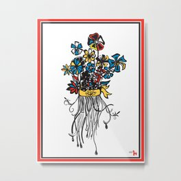 Bouquet - Skal Metal Print