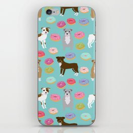 Pitbull dog breed donuts doughnut dog art pibble dog lover rescue pupper iPhone Skin