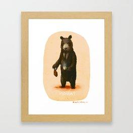 Monday Bear Framed Art Print