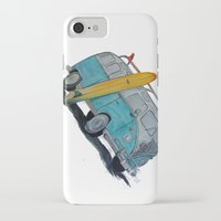 vw bus iPhone & iPod Cases featuring VW Bus by AshyGough
