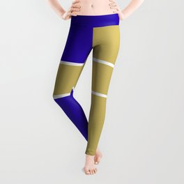 Team Color 6....Gold,blue Leggings