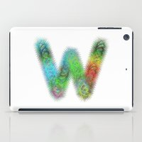 letter iPad Cases featuring Letter W by David Zydd