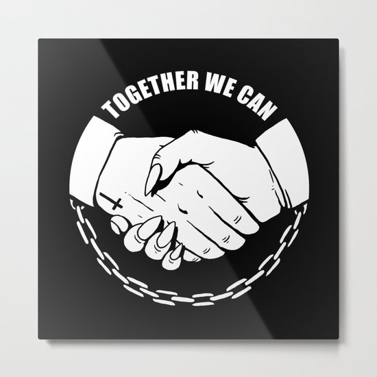 Together We Can Metal Print