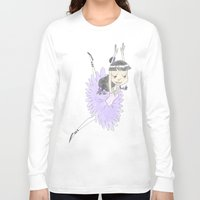 tina fey Long Sleeve T-shirts featuring Phoenix Wright's Friend, Maya Fey the Ballerina by Trillatia