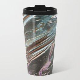Faux Metalic Foil Metal Travel Mug