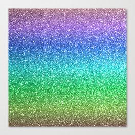 Magic Rainbow Sparkly Glitter Canvas Print