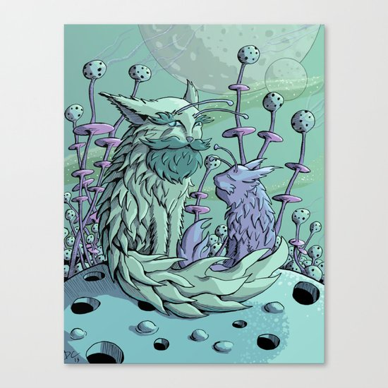 Cosmic Father Cat Canvas Print
