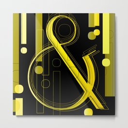 AmpersandWich           ----      Typography Metal Print