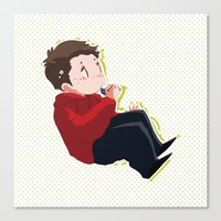 stiles Canvas Prints featuring STILES by oh, wolves