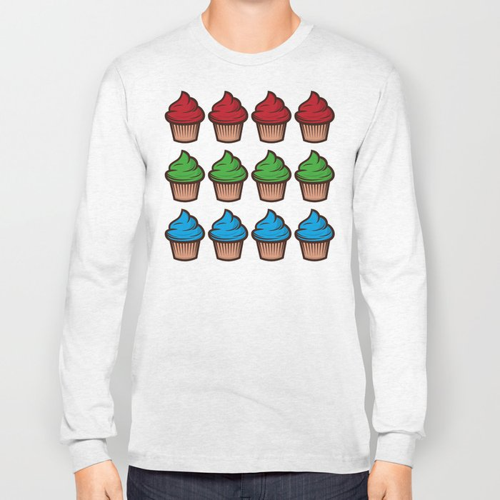 RGB Cupcakes Long Sleeve T-shirt