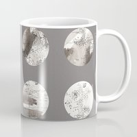 moon phases Mugs featuring Moon phases by Dreamy Me