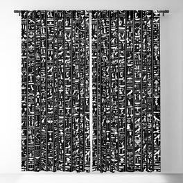 Hieroglyphics B&W INVERTED / Ancient Egyptian hieroglyphics pattern Blackout Curtain