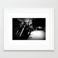 motorcycle Framed Art Prints featuring Motorcycle by Reggie Thomas II Photos
