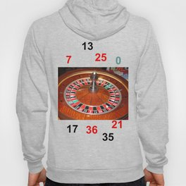 Wooden Roulette wheel casino gaming Hoody