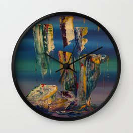 Forming a Continent Wall Clock